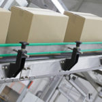 boxes on assembly line